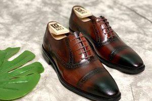 Giày Tây Da Bò Ý Nhập-Brogue 1