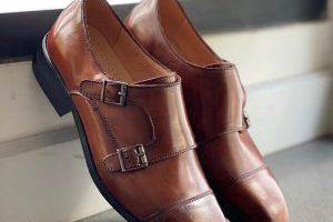 Giày Tây Da Bò Ý Nhập- Brouge 9-Nâu