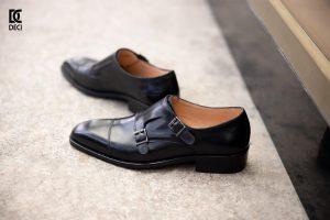 Giày Tây Da Bò – Brogue 9_Đen